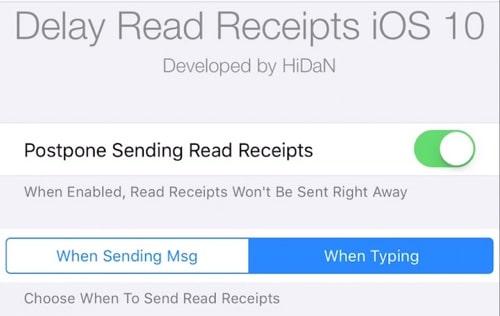Delay Read Receipts iOS 10