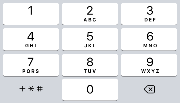 NumberPad for iPhone