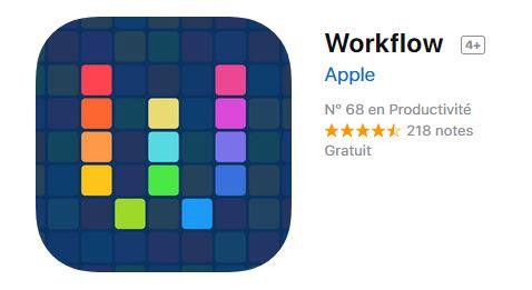 automatisation des flux de travail pour iOS
