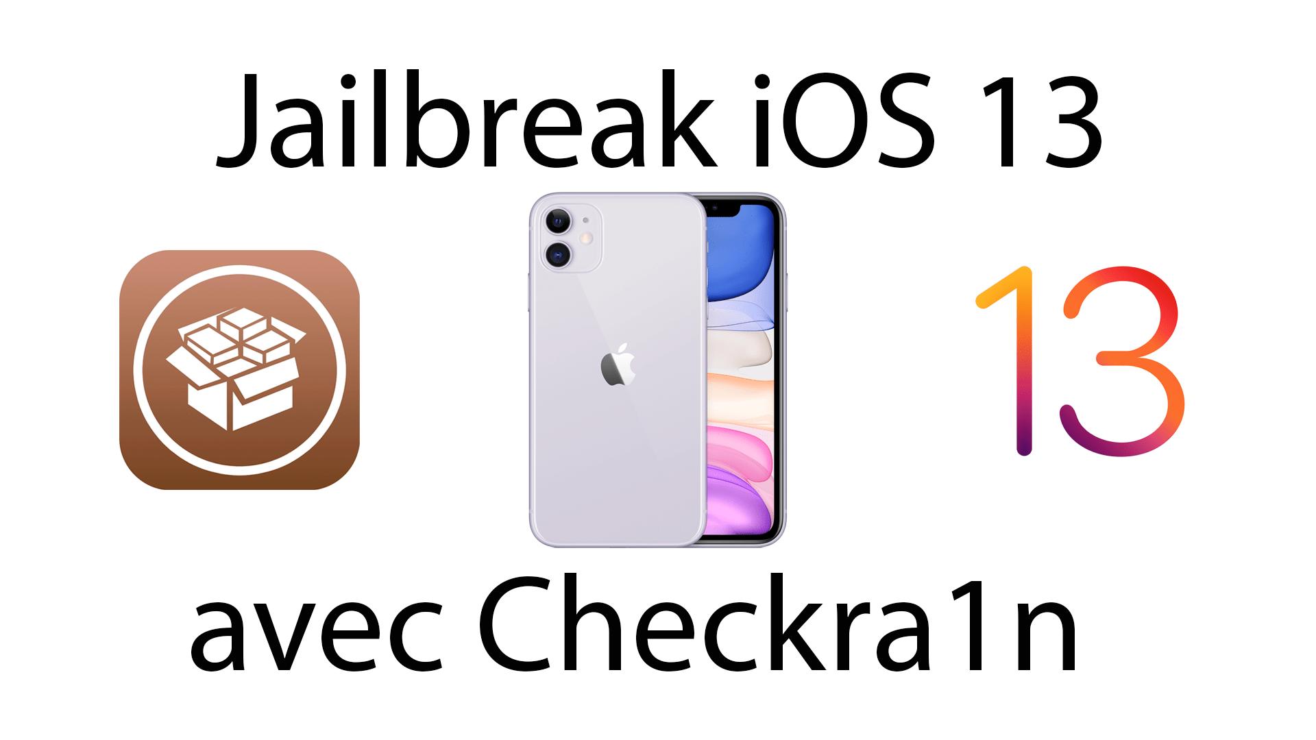 jailbreak checkra1n iOS 13