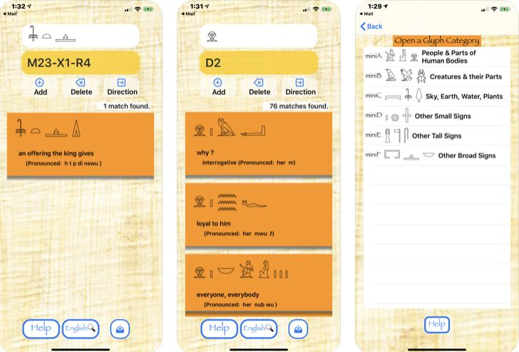 Ancient Egyptian Translator pour iPhone -