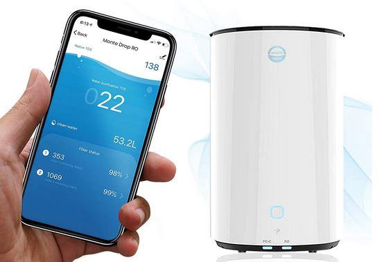 Système de filtration d'eau par osmose inverse compatible avec l'iPhone -