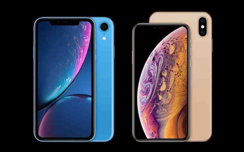 Comparaison Iphone xr xs max