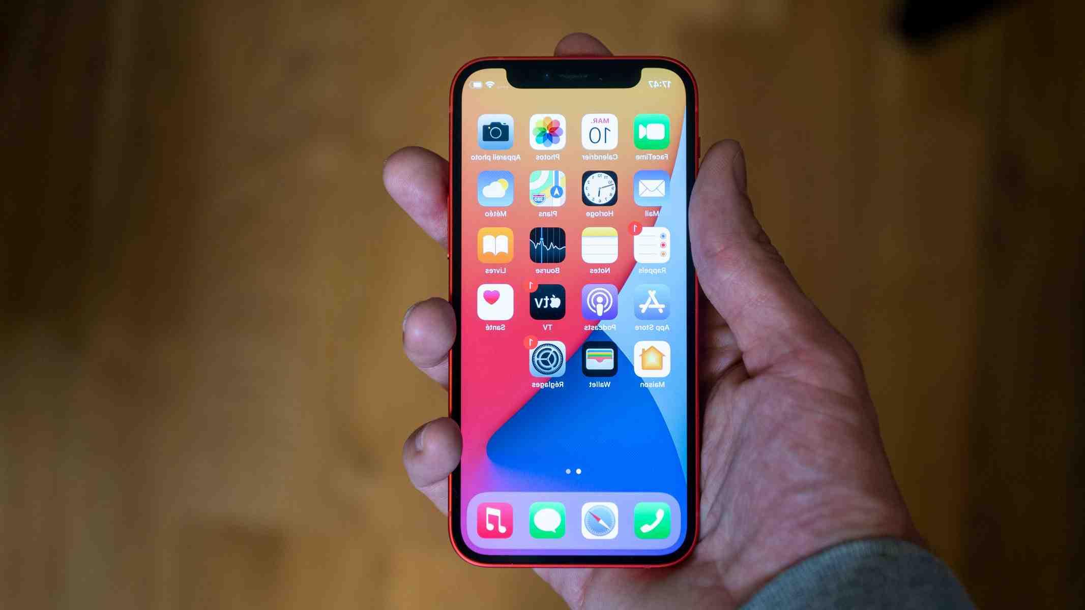 Comparatif des tailles Iphone 12 mini et iphone 8