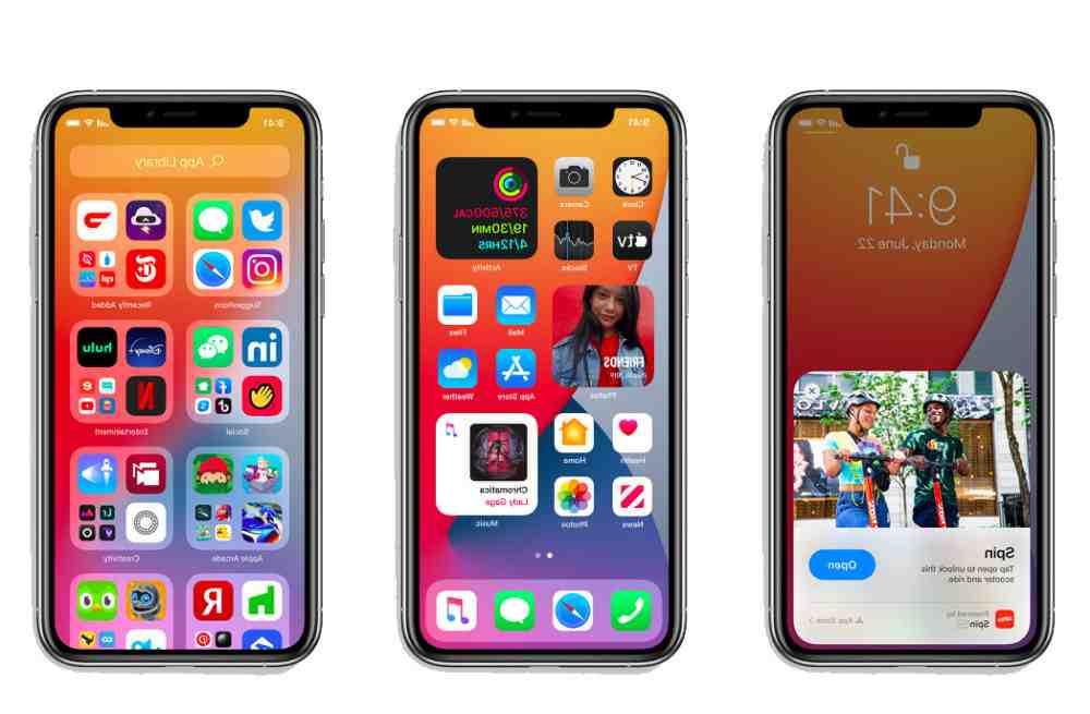 Écran d'accueil de l'Iphone xr