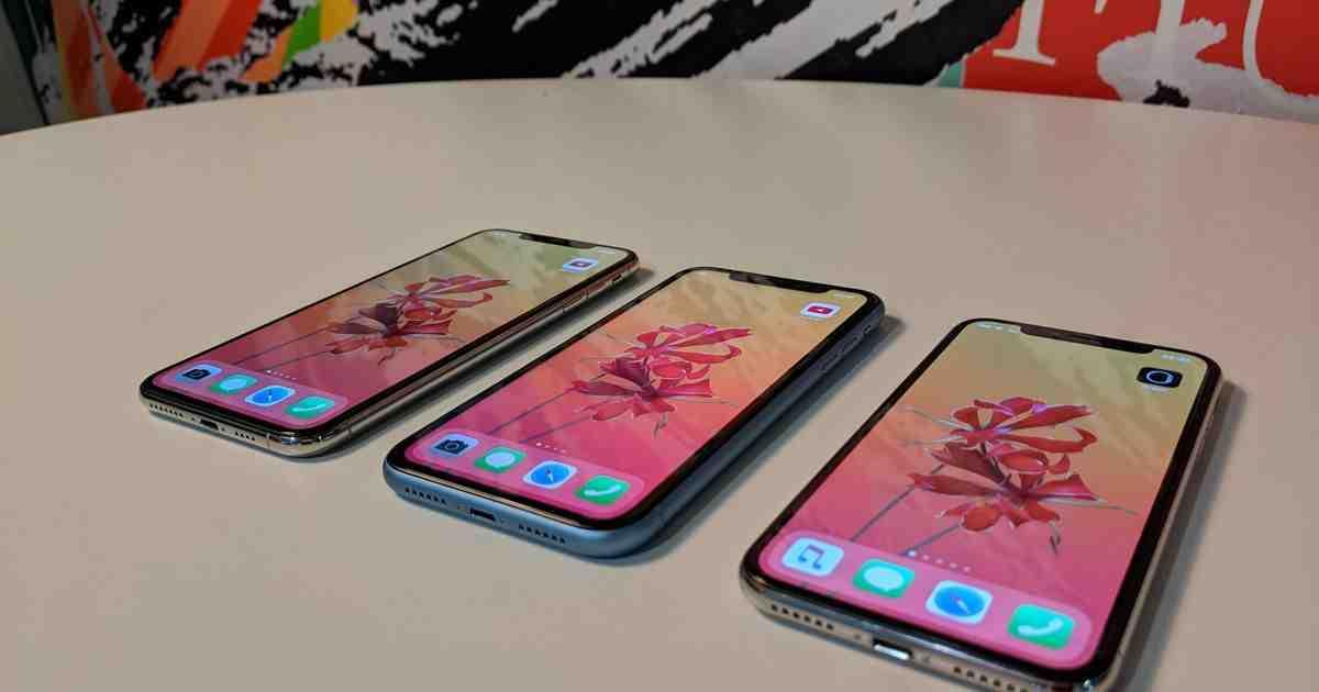 Écran zoomé de l'Iphone xr