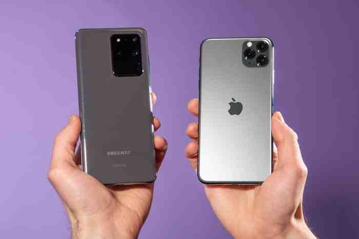 Iphone 11 pro max ou samsung s20 ultra