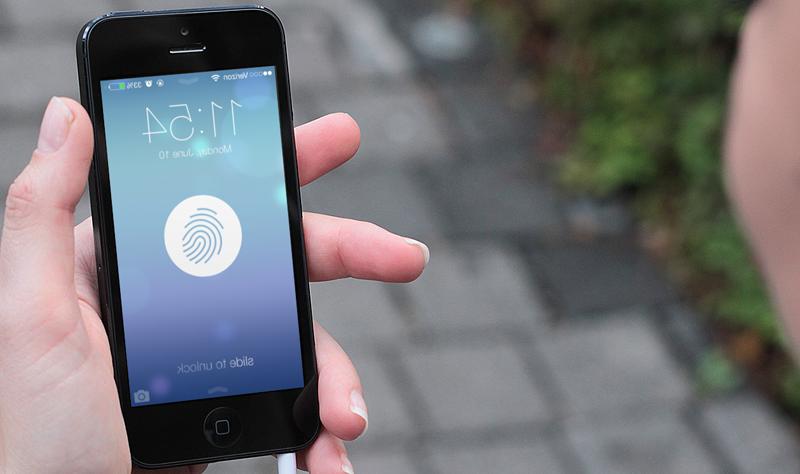 Iphone 5 avec empreinte digitale