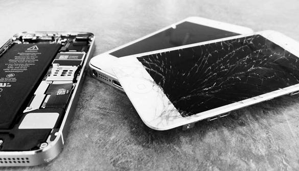 Iphone xr avec écran fissuré