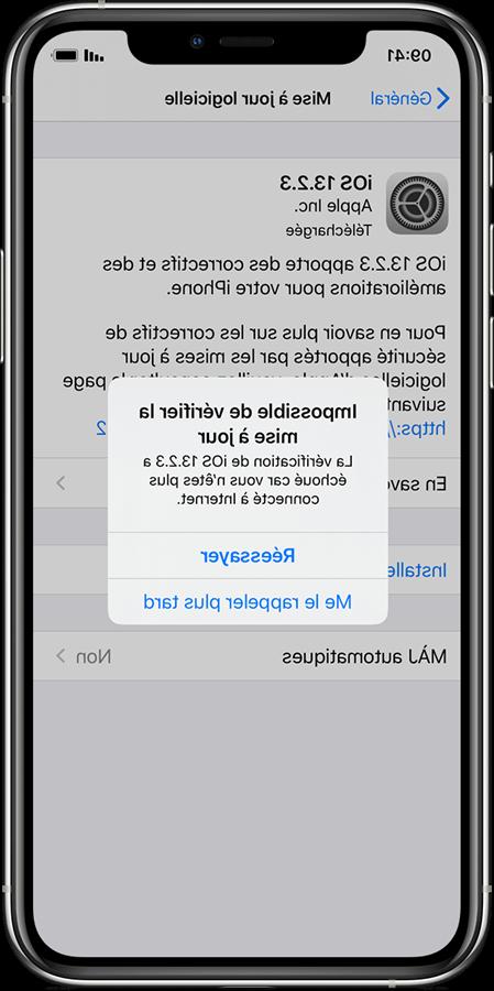 Mise à jour de l'Iphone 5