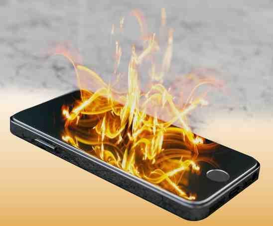 Surchauffe de l'Iphone 8 plus